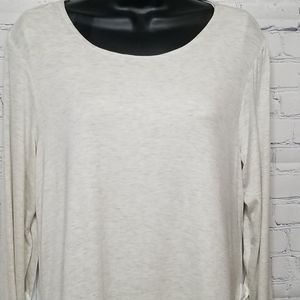 Anthropologie pebble and stone long sleeve top